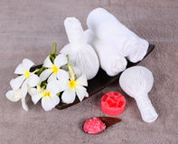 Thai herbal massage balls Royalty Free Stock Photo