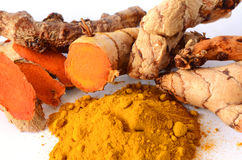 Thai Herbal Medicine From Tumeric Roots. Stock Image