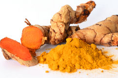 Thai herbal medicine from Tumeric roots. Royalty Free Stock Photos