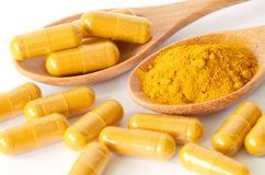 Thai herbal medicine from Tumeric roots. Stock Photography