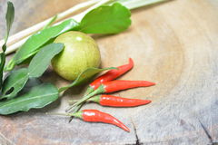 Thai Herbs and Spices Stock Image