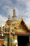 Thai Hertitage Architecture. Statues & Architecture at The Grand Palace- Bangkok, Thailand Stock Photography