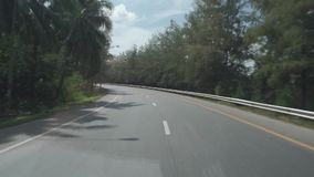 Thai highway in the forest stock footage