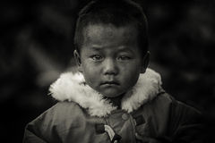 Thai hill tribe child in northern part of Thailand Stock Photo