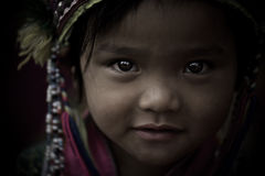 Thai hill tribe child in northern part of Thailand Royalty Free Stock Photography