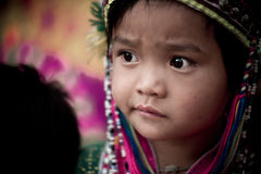 Thai hill tribe child in northern part of Thailand Royalty Free Stock Photo