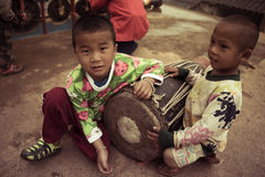 Thai hill tribe in northern part of Thailand Stock Photo