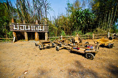 Thai Hillsmen Carts. At Mon Cham Stock Photography