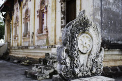 Thai historic buildings in Thai temple. Royalty Free Stock Image