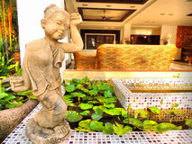 Thai home modern. In phrae province Royalty Free Stock Image
