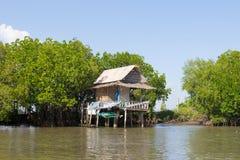 Thai home near the river Stock Photo