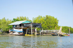 Thai home near the river Royalty Free Stock Images