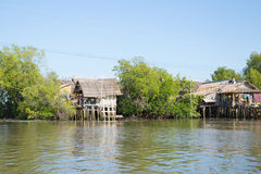 Thai home near the river Royalty Free Stock Photos