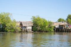 Thai home near the river Royalty Free Stock Photos