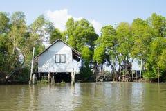 Thai home near the river Stock Photos