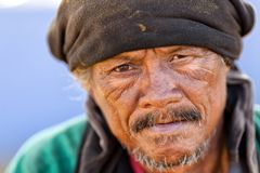 Thai homeless man portrait Stock Images