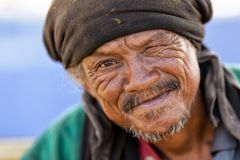 Thai homeless man Stock Images