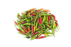 Thai hot chilli. On White background Stock Photos