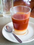 Thai hot milk tea Stock Image