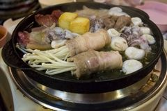 Thai Hot pot Stock Photo