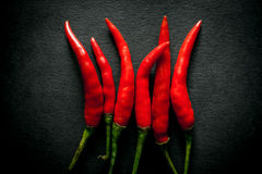 Thai hot red chili pepper Stock Image