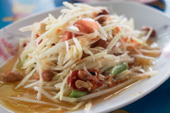This is thai hot and spicy dish Its name is. `Som-tum` Thailand food Royalty Free Stock Photo