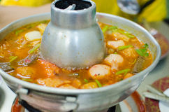 Thai hot and spicy soup seafood Stock Images