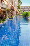 Thai Hotel Pool View Royalty Free Stock Photography