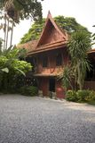Thai House. Traditional teak Thai house, Bangkok Thailand Stock Photos