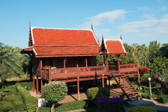 Thai House. The unique style of high roof royalty free stock images