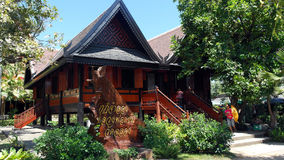 Thai Wooden House Building Royalty Free Stock Photography
