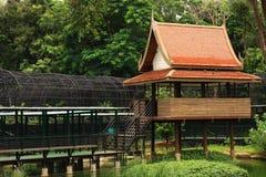 Thai House. In the garden Royalty Free Stock Photos