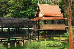 Thai House. In the garden Royalty Free Stock Image