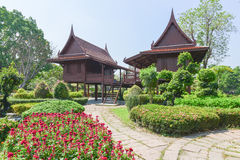 Thai house in the garden Royalty Free Stock Photography