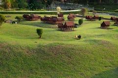 Thai house in Mini Siam Park Royalty Free Stock Photo