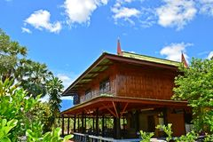Thai house. My thai house with bluesky in thailand Royalty Free Stock Image