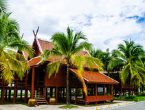 Thai house of the old northern style. Traditional house in the Northern Thai style Royalty Free Stock Photo