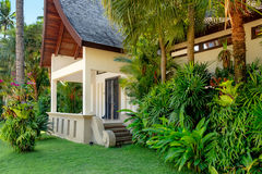 Thai house with palm trees Stock Photography