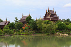 Thai House in the past Royalty Free Stock Photo
