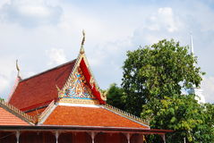 Thai house beside river in ayutthaya Stock Photography