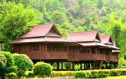 Thai houses Royalty Free Stock Image