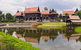 Thai houses style Royalty Free Stock Images