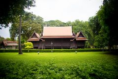 thai hus arkivbild