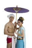 Man and woman in Thai northern costume Royalty Free Stock Photo