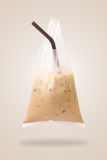 Thai Ice coffee in bag Stock Photos