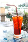Thai Ice Tea, Iced drink Royalty Free Stock Images