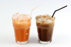 Thai Ice Tea milk and Ice Coffee Royalty Free Stock Photography