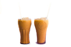 Thai iced milk tea Stock Image