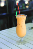 Thai iced tea drink. Royalty Free Stock Images