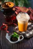 Thai Iced tea in a glass royalty free stock photo